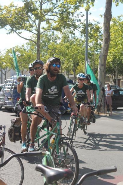 Accueil des cyclistes du Tour Alternatiba
